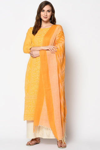 Un-Stitched Casual Pure Cotton Salwar Suits