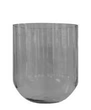 Load image into Gallery viewer, VASE - Simple glassvase Smoke Medium