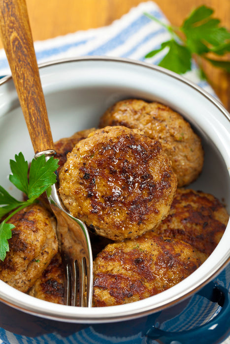 Apple Fennel Pork Sausage Patties