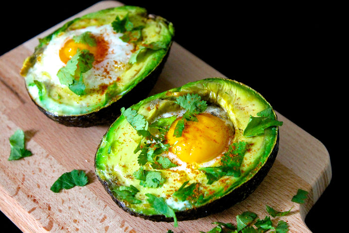 Baked Spicy Avocados with Eggs