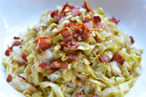 Chinese Fried Cabbage with Bacon