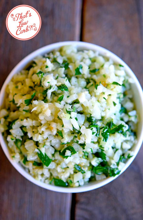 "Instant Cauliflower ""Rice"" with Herbs"