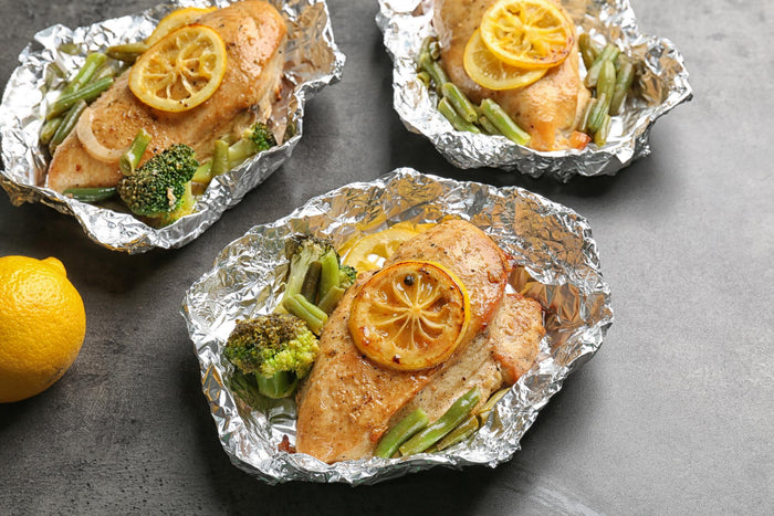Savory Baked Chicken in Foil Packets