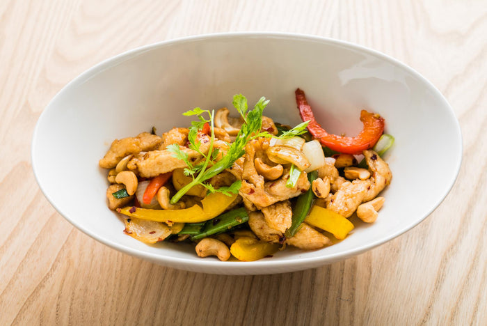 Stir Fried Pepper Chicken with Cashews