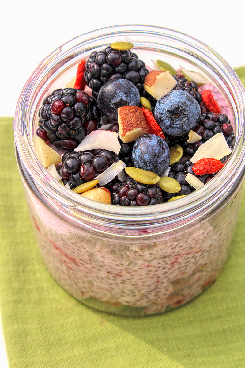 Coconut Chia Berry Pudding