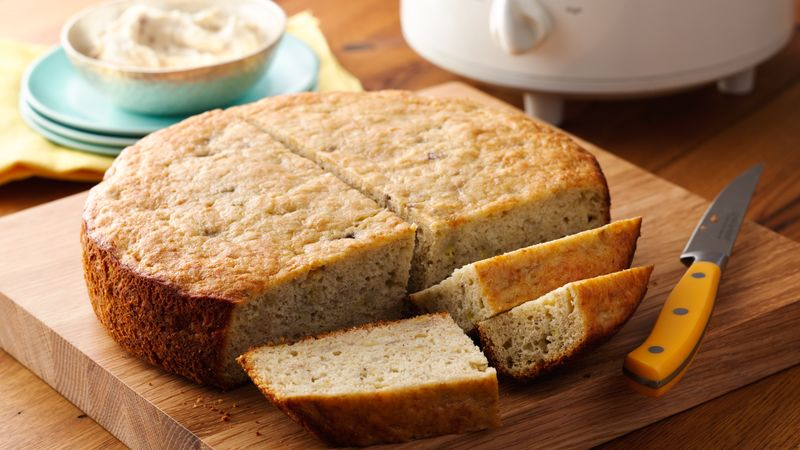 Golden Zucchini Crock Pot Bread