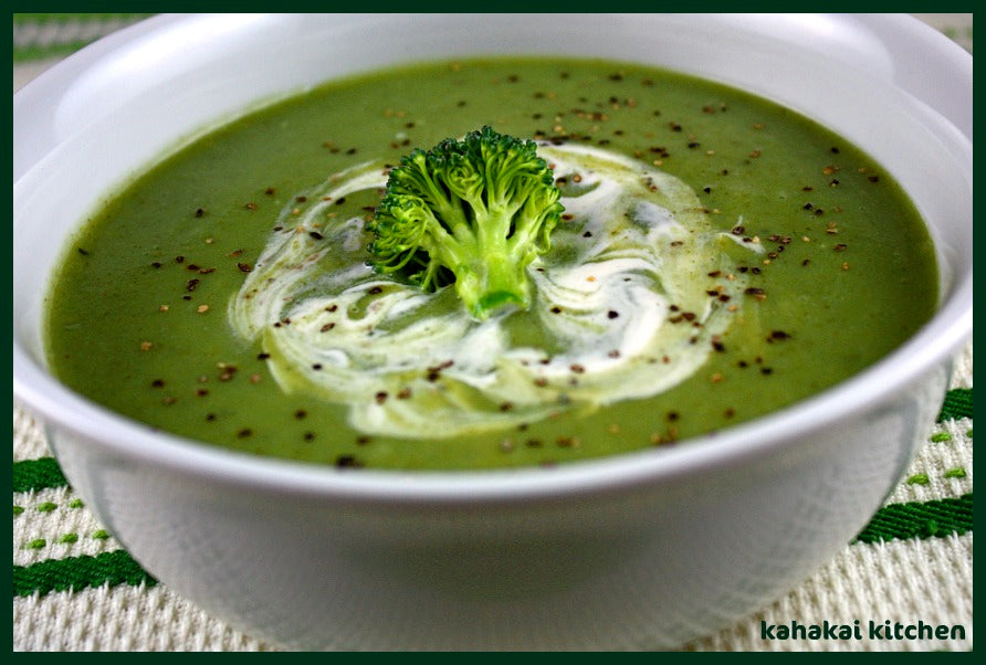 Garlic, Ginger and Greens Soup