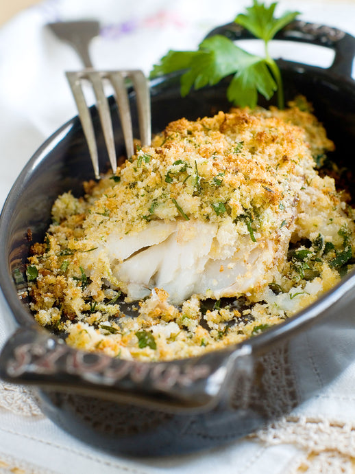 Herb and Almond Crusted Halibut