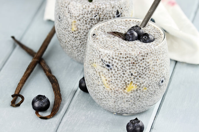 Blueberry Coconut Keto Chia Pudding