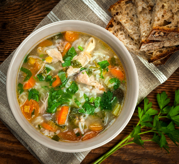 Hearty Keto Chicken Vegetable Soup