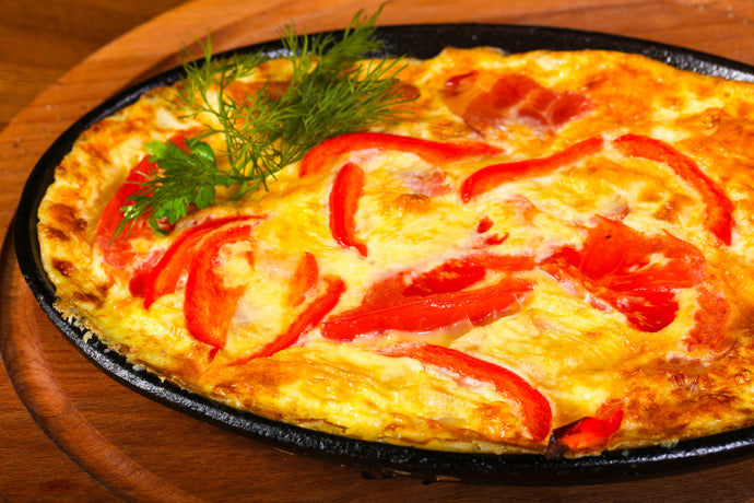 Egg Frittata with Ham and Red Peppers