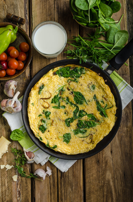 Egg Scramble with Herbs and Mushrooms