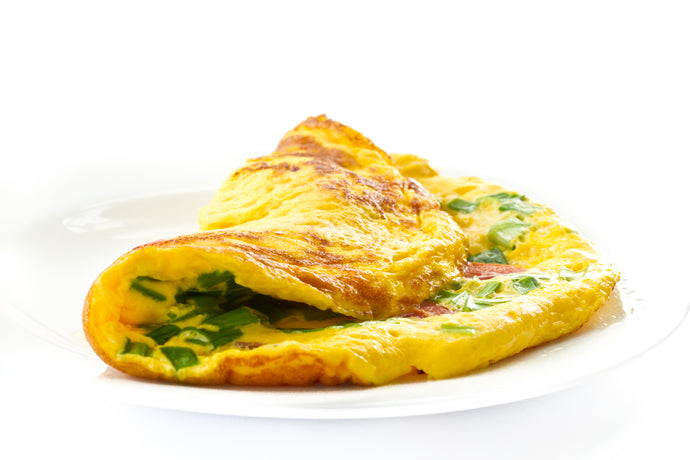 Omelette with Spinach and Green Onions
