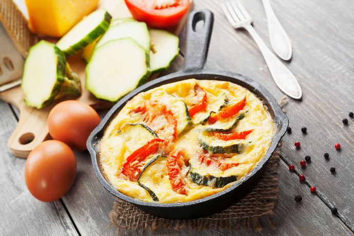 Eggs, Zuchinni and Pepper Skillet