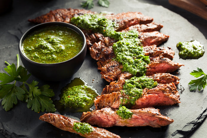 Keto Grilled Steak with Chimichurri Sauce