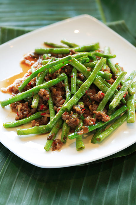 Ground Beef with Spicy Italian Green Beans