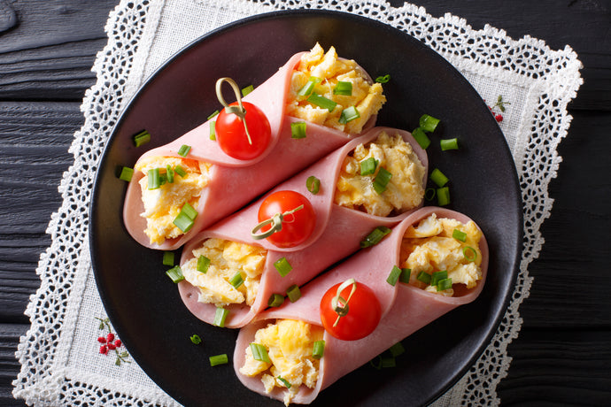 Ham and Egg Breakfast Roll Ups