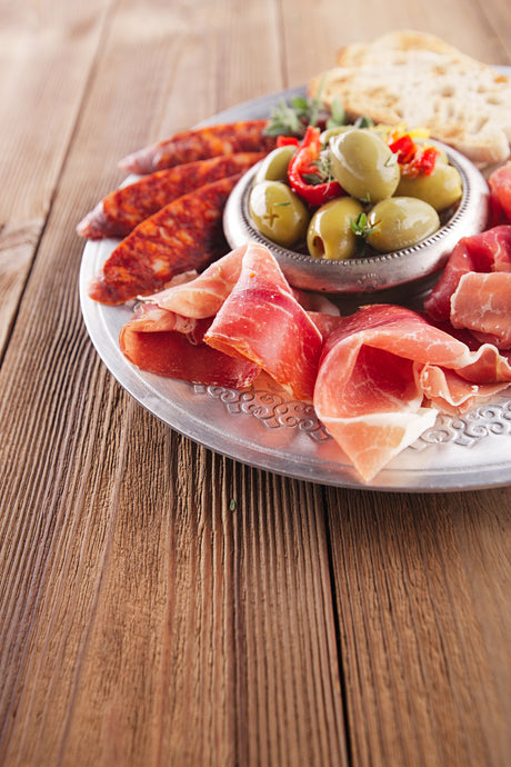 Savory Meat and Olive Platter