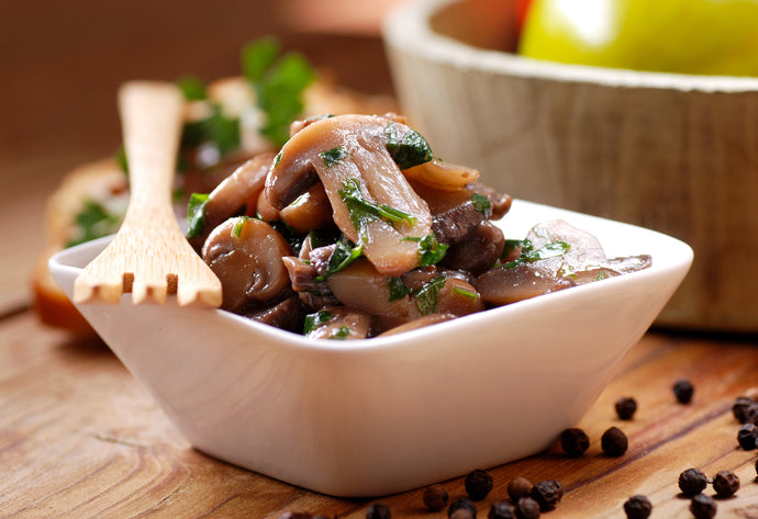 Mushrooms and Garlic Saute
