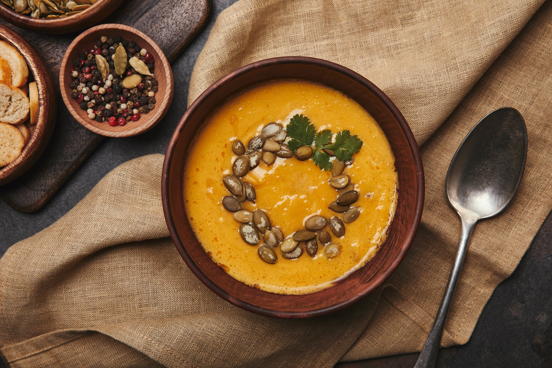 Keto Autumn Cream of Pumpkin Soup