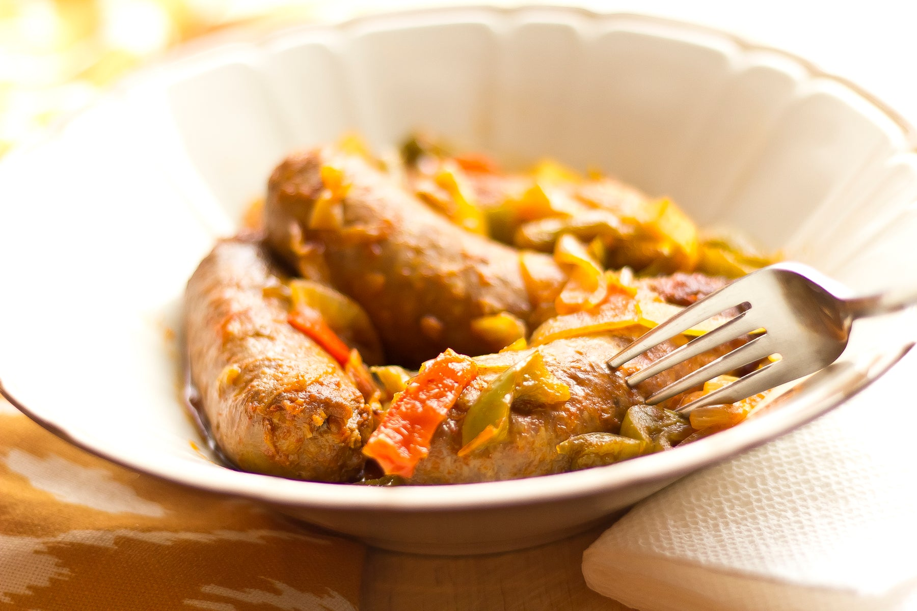 Keto Sweet and Spicy Skillet Sausage and Peppers