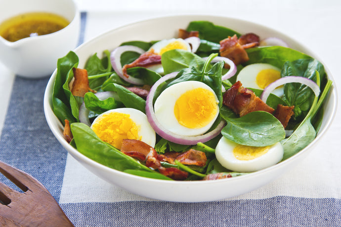Keto Spinach Bacon and Egg Salad