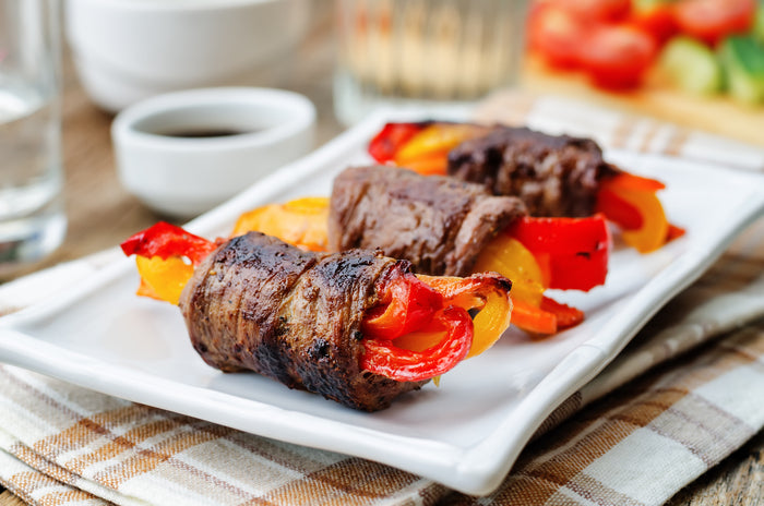 Keto Steak Roll-Ups with Peppers