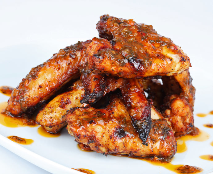 Sticky Sweet Garlic Chicken Wings