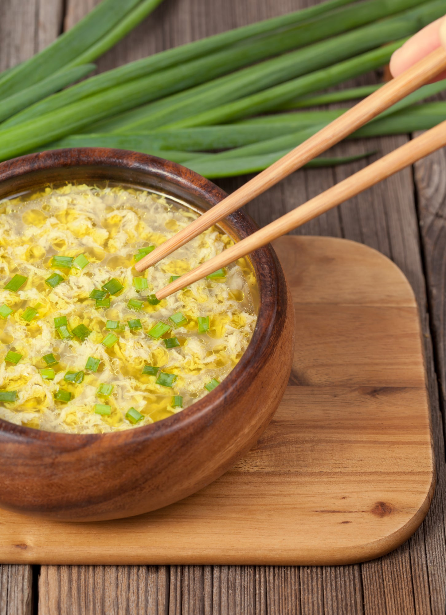 Lemongrass and Ginger Egg Drop Soup