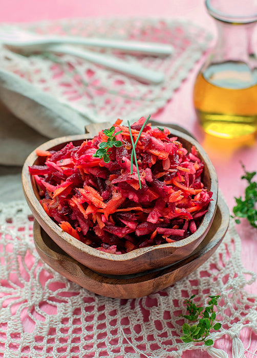 Raw Ginger Beet and Carrot Salad