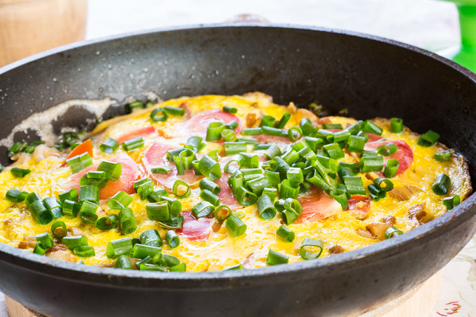 One Pot Keto Spring Onions and Eggs