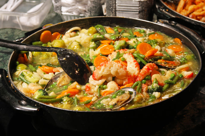 One Pot Keto Shrimp and Vegetable Stew