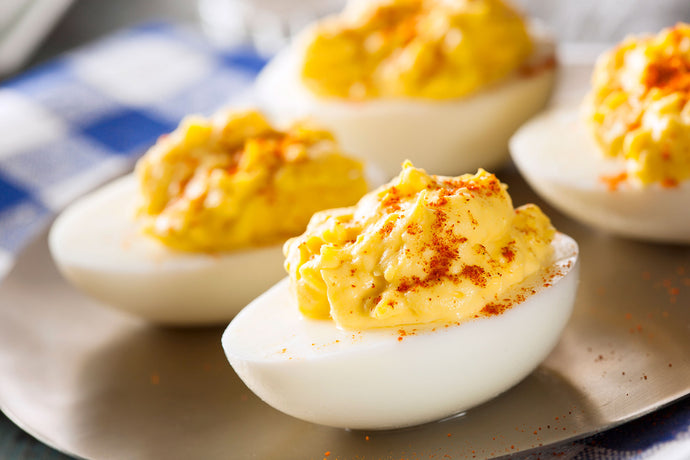 Paleo Pancetta Deviled Eggs