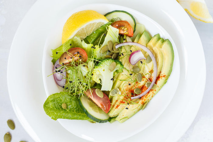 Spring Salad with Avocado and Pumpkin Seeds