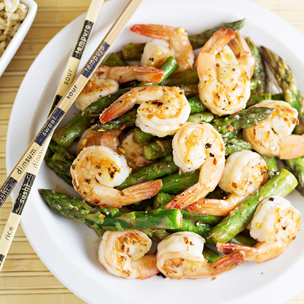 Flash Fried Shrimp with Asparagus