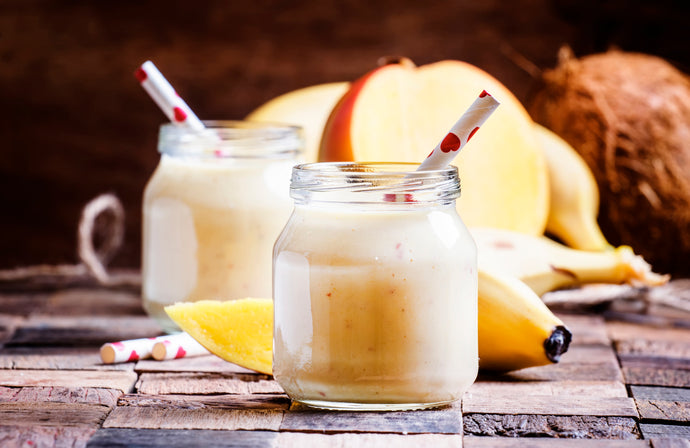 Banana Coconut Collagen Smoothie