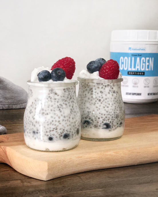 Coconut Cream Chia Seed Pudding with a Collagen Boost