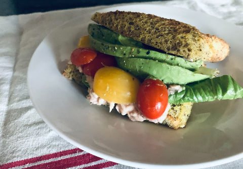 Keto Bread Tuna Fish Sandwich