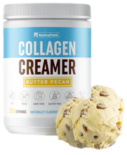 Load image into Gallery viewer, Bundled NativePath Collagen Coffee Creamer Butter Pecan Flavor