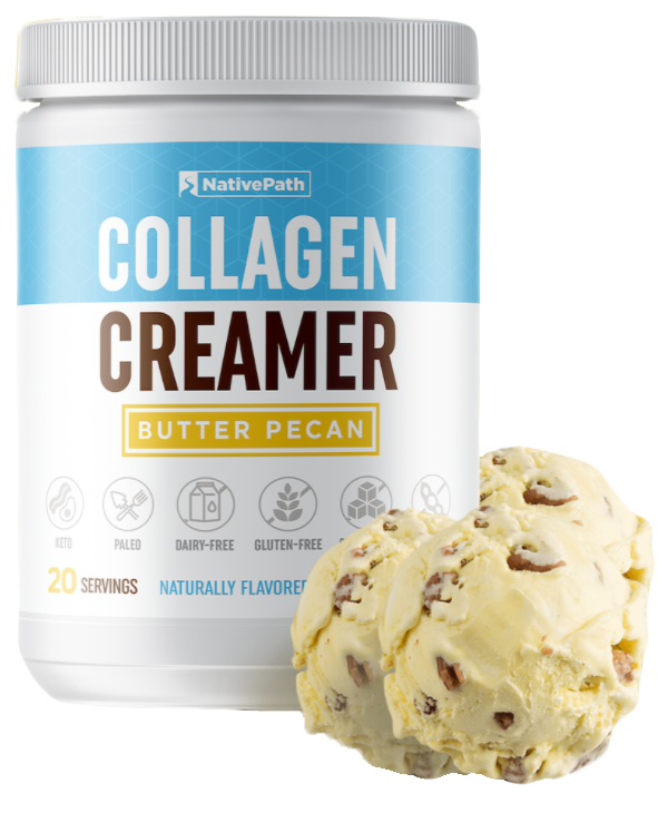 Bundled NativePath Collagen Coffee Creamer Butter Pecan Flavor