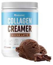 Load image into Gallery viewer, Bundled NativePath Collagen Coffee Creamer Mocha Latte Flavor