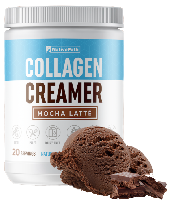 Bundled NativePath Collagen Coffee Creamer Mocha Latte Flavor