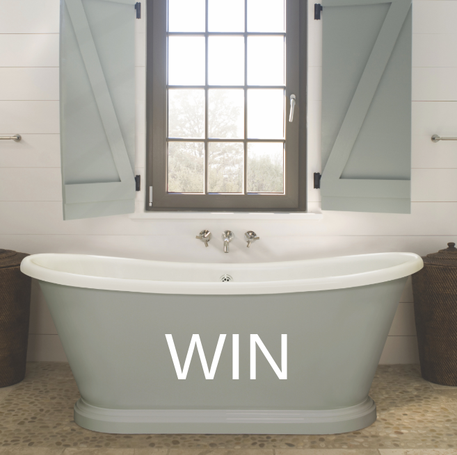 Win a freestanding bath in a colour of your choice