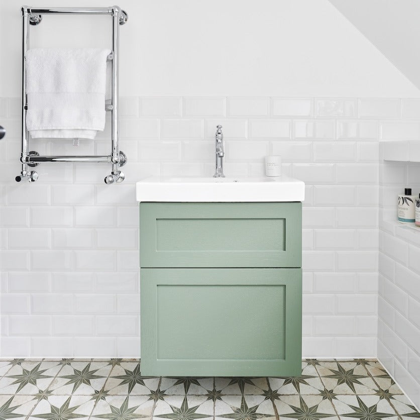 Wall Mounted Green Vanity Unit