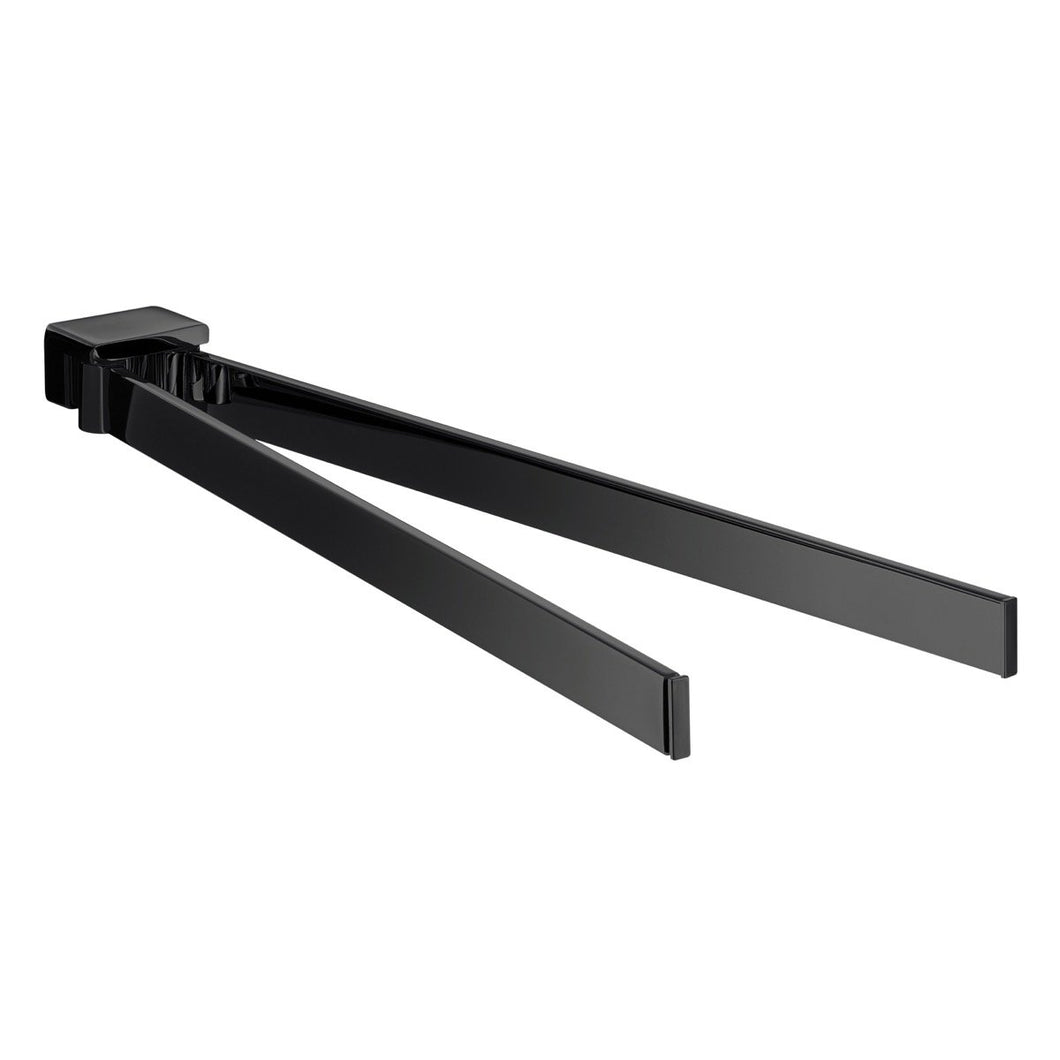 Loft Black Towel Holder 410mm