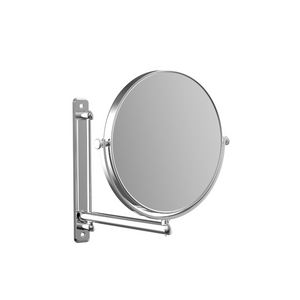 Height adjustable bathroom cosmetic mirror