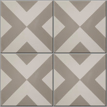 Modern Harlequin Grey Encaustic