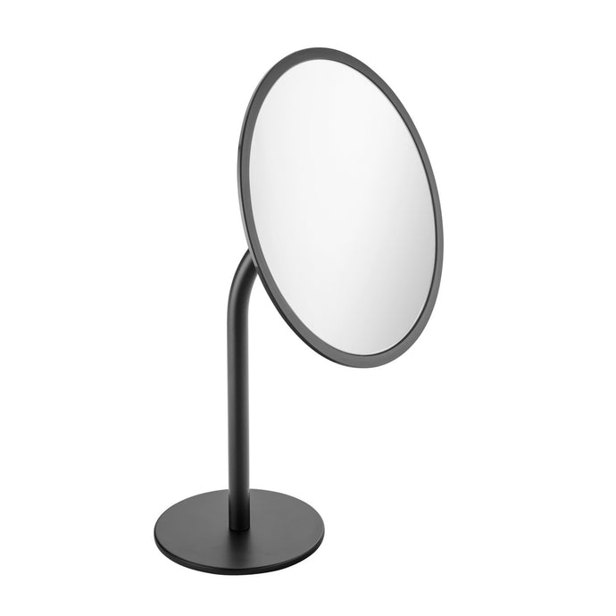 Black & White Freestanding Magnifying Mirror