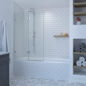 Two Panel Double Hinged Bath Shower Screen