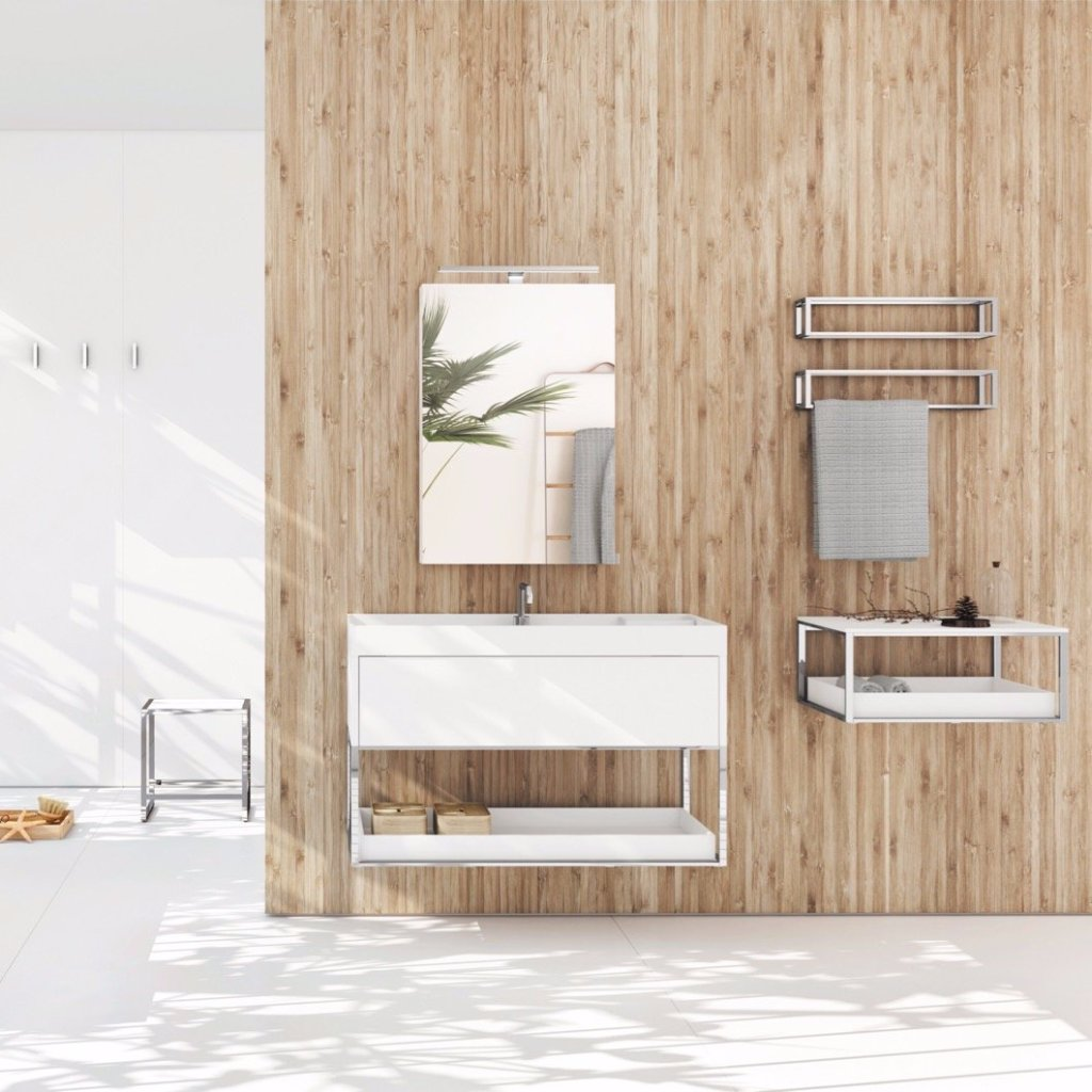 Cosmic Grid Furniture and Basin Blanc